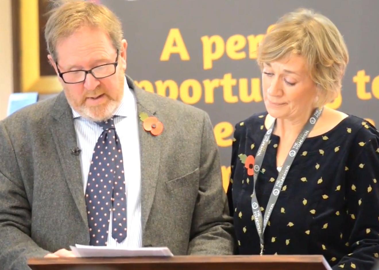 Mark and Beverley Brindley - The James Brindley Foundation